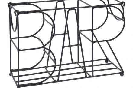 """Μεταλλική Μπουκαλοθήκη Κάβα Κρασιών με σχέδιο """"Bar"""""""