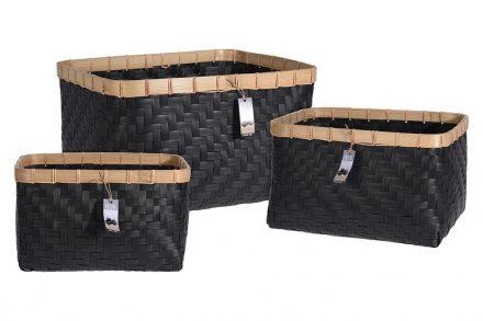 Σετ Καλαθιών 3 τεμαχίων σε 3 μεγέθη από φυσικό ξύλο Bamboo - Home Styling