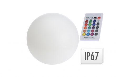Αδιάβροχο Φωτιστικό Λάμπα LED Στρογγυλό 25cm διαμέτρου με Τηλεκοντρόλ και αλλαγή 7 χρωμάτων - Cb
