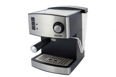 Mesko Καφετιέρα Espresso 850W 15bar Πίεσης με Αποσπώμενο Δοχείο 1.6Lt σε Ασημί Μαύρο χρώμα - Mesko
