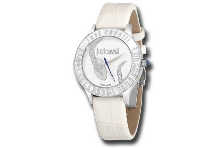 Just Cavalli R7251597502 Γυναικείο Ρολόι Luminal White Leather Strap - Just Cavalli