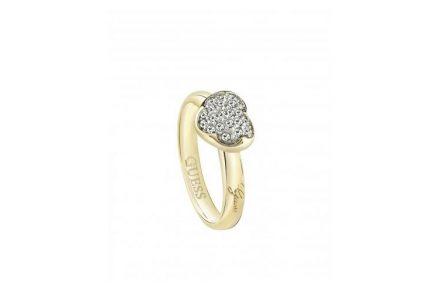 Γυναικείο Κόσμημα Δαχτυλίδι από Ανοξείδωτο Ατσάλι σε Χρυσό χρώμα με Κρυσταλλάκια