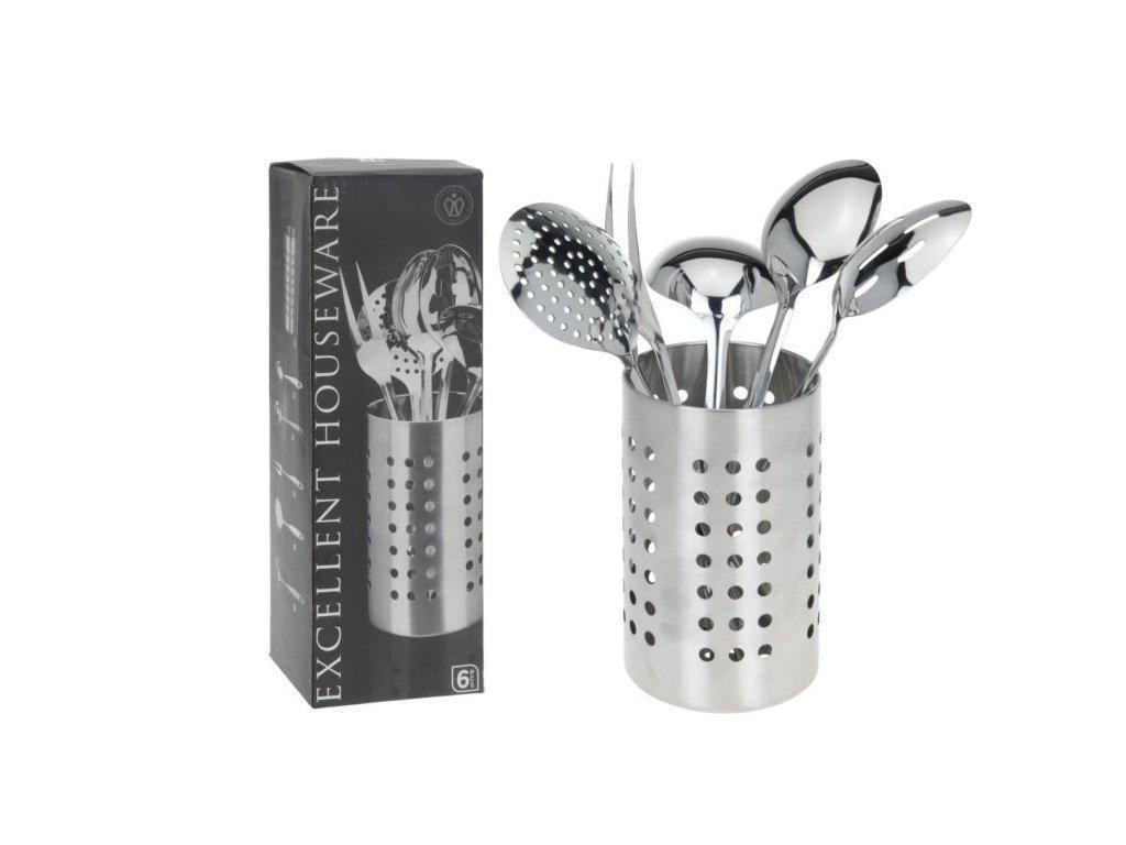 Excellent Houseware Σετ Εργαλεία Κουζίνας 6 τεμ. από Ανοξείδωτο ατσάλι με Βάση - Excellent Houseware