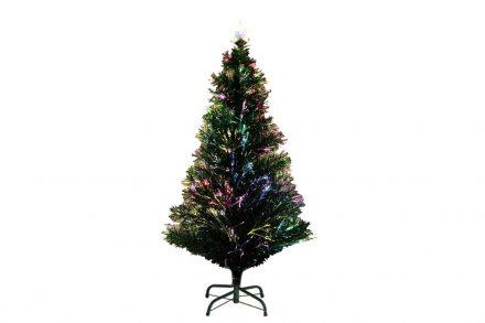 Τεχνητό Χριστουγεννιάτικο Δέντρο τύπου Έλατο με Οπτικές Ίνες ύψους 120cm με μεταλλική βάση - OEM