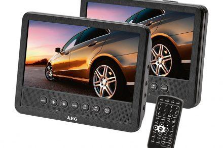 "AEG DVD Player 7"" Δύο Οθόνες LCD για Προσκέφαλο Καθίσματος Αυτοκινήτου"