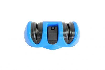 Διπλό Χειροκίνητο Ακονιστήρι Μαχαιριών με Ροδέλες σε Μπλε χρώμα