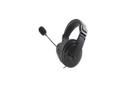 Στερεοφωνικά Ακουστικά με Μικρόφωνο σε Μαύρο χρώμα
