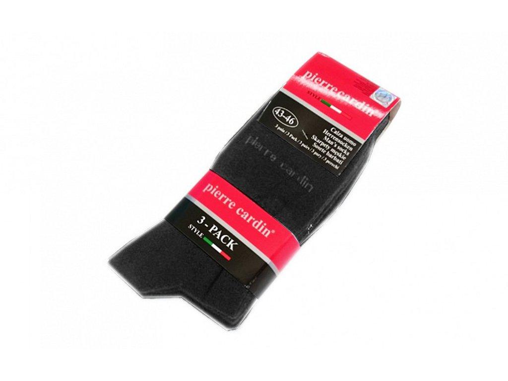 Pierre Cardin Ανδρικές Κάλτσες σετ 3 ζευγαριών σε Γκρι ανθρακί χρώμα