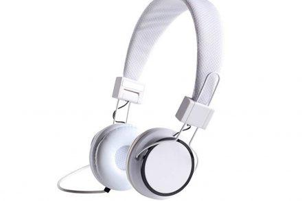 Ρυθμιζόμενα Στερεοφωνικά Ακουστικά On-Ear 105dB σε Λευκό Χρώμα