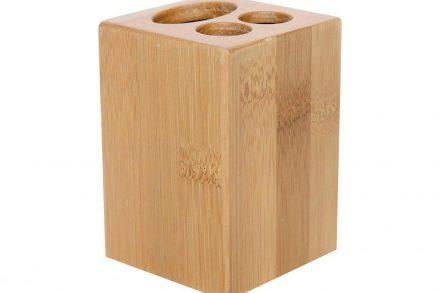 Bamboo Δοχείο Μπάνιου για Οδοντόβουρτσες και Οδοντόπαστα