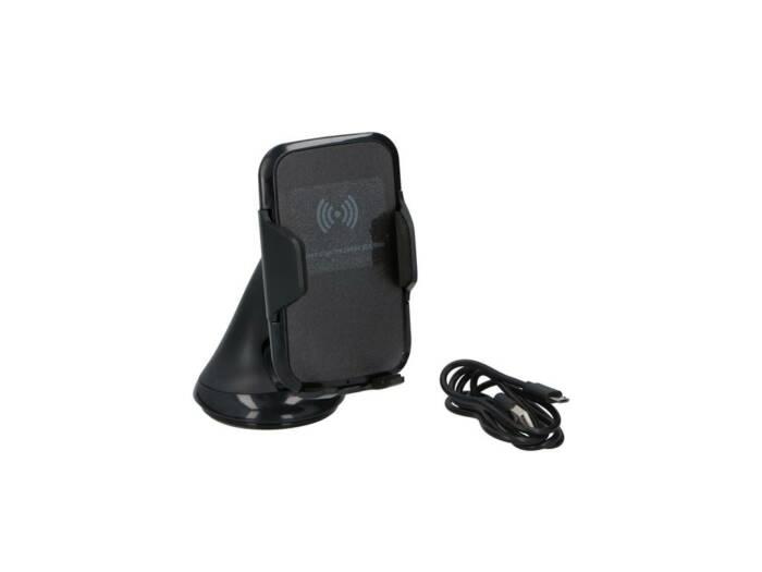 Dunlop Βάση στήριξης 360 μοιρών και Ασύρματος Φορτιστής για Κινητό/GPS/iPod/MP3 για Αυτοκίνητο σε Μαύρο χρώμα