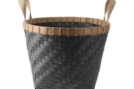 Πλεκτό Καλάθι από Ξύλο Bamboo με Λαβές