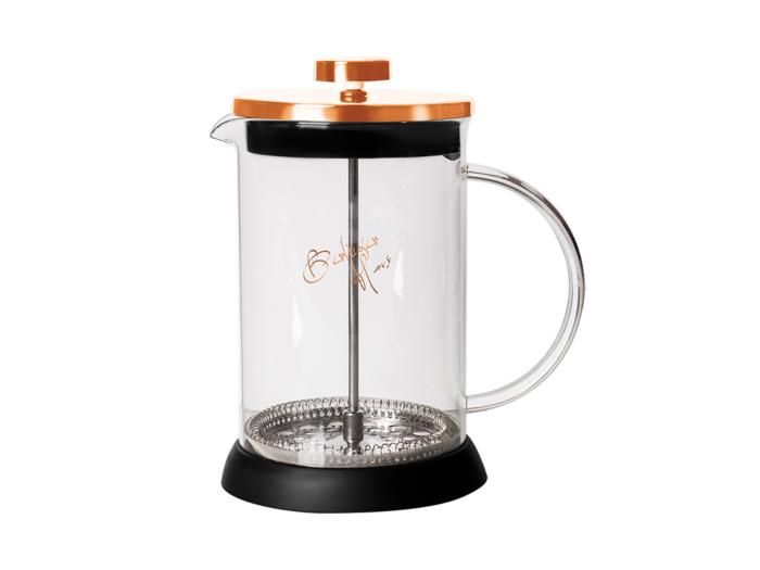 Berlinger Haus Χειροκίνητη Καφετιέρα για Γαλλικό και Τσάι 800ml από Ανοξείδωτο ατσάλι
