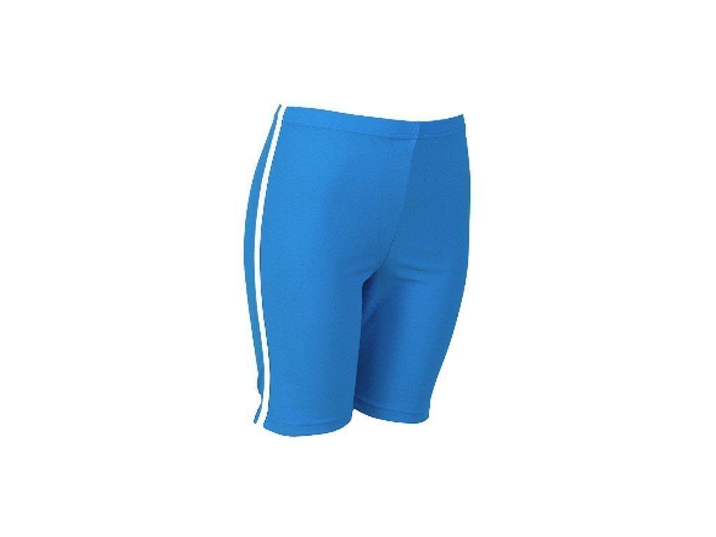 Παιδική Αντιηλιακή Καλοκαιρινή Βερμούδα Τύπου Σερφ (Surf) από Λύκρα με Προστασία UPF 50 από UV Ακτινοβολία σε Μπλε Ανοιχτό χρώμα - Cb