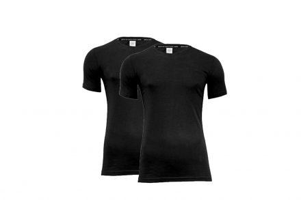 Pierre Cardin Ανδρικό μπλουζάκι T-Shirt με στρογγυλή λαιμόκοψη σε Μαύρο χρώμα Σετ των 2 τεμαχίων - Pierre Cardin