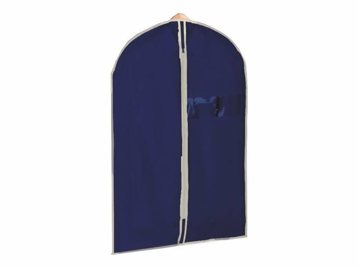 Θήκη Φύλαξης Ρούχων Υφασμάτινο με Φερμουάρ 60x90cm σε Μπεζ-Μπλε χρώμα