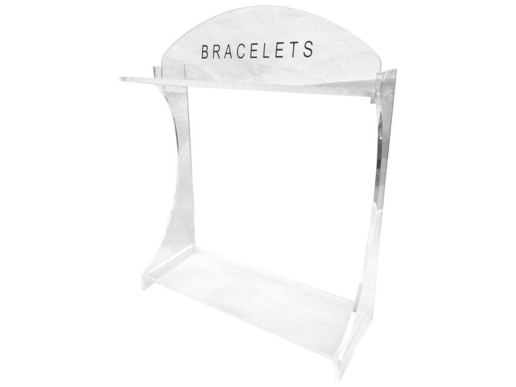 Σταντ Προβολής Βραχιολιών και Περιδέραιων 25 θέσεων σε διάφανο χρώμα με επιγραφή 'Bracelet'