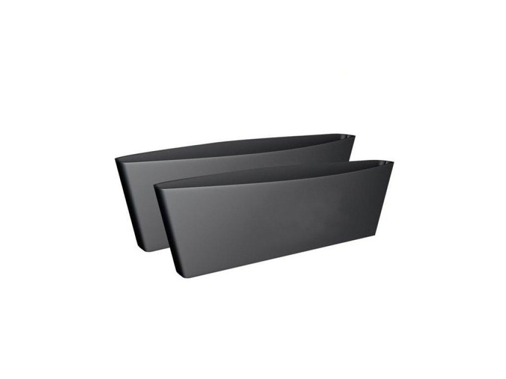 Σετ Οργανωτής Θήκη Αντικειμένων για το Αυτοκίνητο 2 τεμ. στο πλάι του καθίσματος σε Μαύρο χρώμα