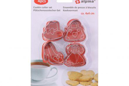 Φορμάκια για Κουλούρια και Μπισκότα Σετ 4 τεμαχίων από Ανοξείδωτο ατσάλι