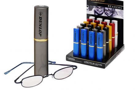Dunlop Unisex Γυαλιά Πρεσβυωπίας Διαβάσματος σε Γκρι Θήκη