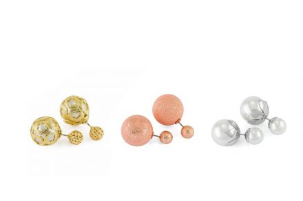Pierre Cardin Gift Set PXE6106 Σετ 3 Ζευγάρια Σκουλαρίκια από κράμα χρυσού