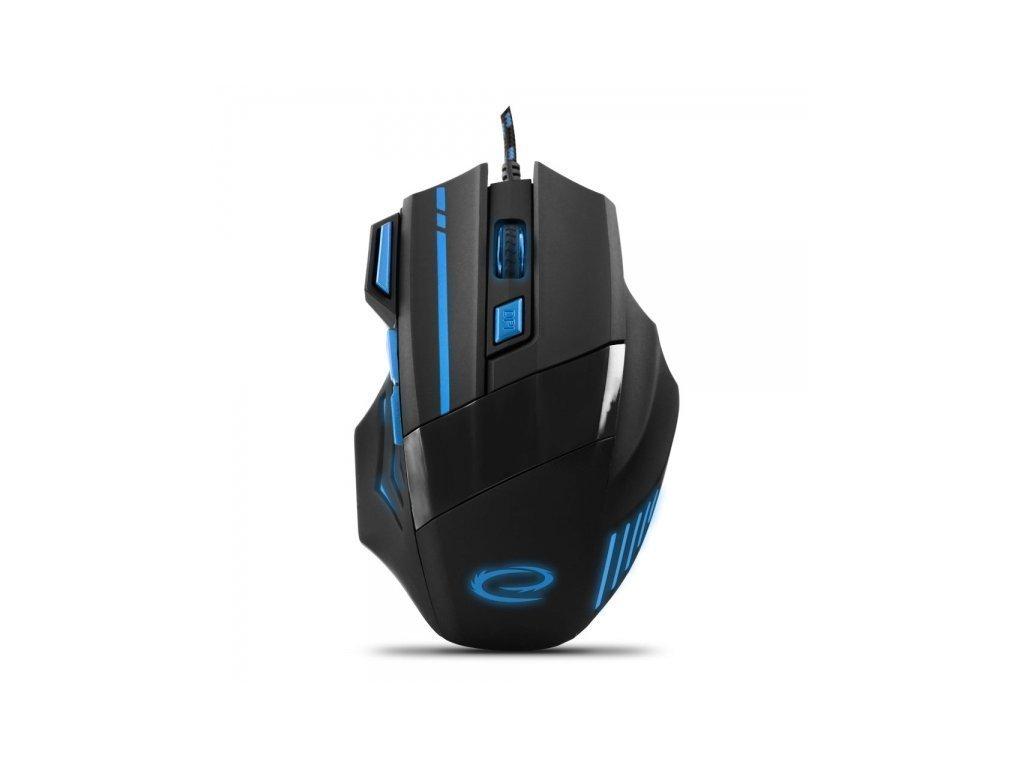 Esperanza Ενσύρματο Οπτικό Gaming Ποντίκι 7 keys 2400dpi σε Μαύρο-Μπλε χρώμα