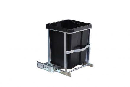 Εσωτερικός Κάδος Απορριμμάτων Ντουλαπιού Κουζίνας 14L με μηχανισμό για αυτόματο κλείσιμο