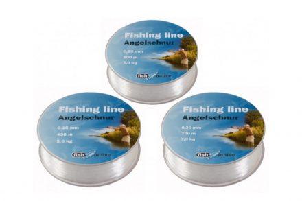 Fish Active Σετ Ψαρέματος με 3 πετονιές πάχους 0.20/0.25/0.30 mm