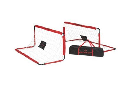 Σετ Ποδοσφαίρου με δύο πτυσσόμενα τέρματα 150x60x60cm και τσάντα μεταφοράς της Dunlop - Dunlop
