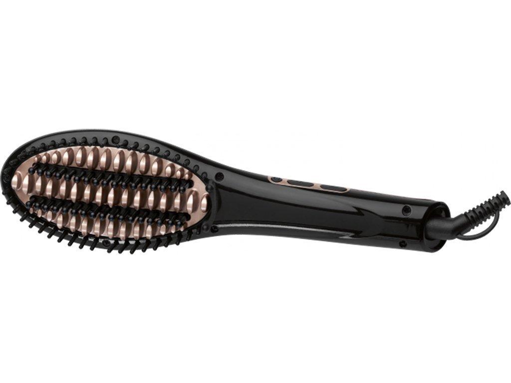 AEG Ηλεκτρική Θερμαινόμενη Βούρτσα Ισιώματος Μαλλιών 40W για Ταχύτατο Ίσιωμα με Τεχνολογία Ιονισμού και Κεραμικές Πλάκες σε Μαύρο χρώμα