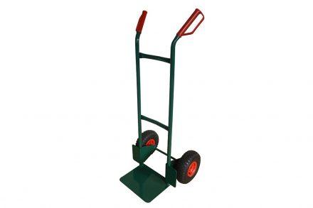 Επαγγελματικό Καρότσι μεταφοράς από Ατσάλι 120x52x50cm για Βάρος 150Kg με ρόδες σε Πράσινο χρώμα - HT