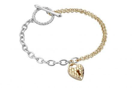 Just Cavalli Γυναικείο Κόσμημα Βραχιόλι από ατσάλι σε χρυσό ασημί χρώμα με κρεμαστό στοιχείο