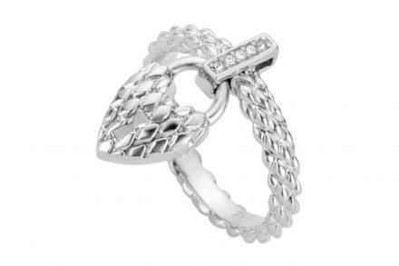 Just Cavalli Γυναικείο Κόσμημα Δαχτυλίδι από ατσάλι σε ασημί χρώμα με κρεμαστό στοιχείο