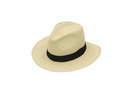 Ψάθινο καπέλο τύπου Παναμά με λεπτή πλέξη σε χρώμα Μπεζ Ανοιχτό. - OEM
