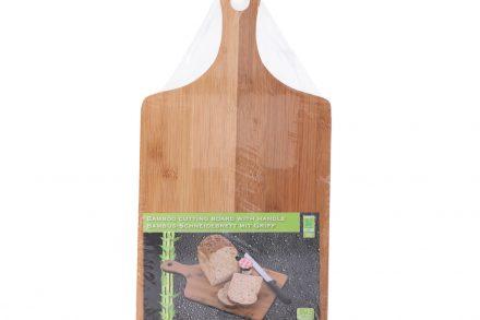Ξύλινη Βάση Κοπής Bamboo για Τυριά