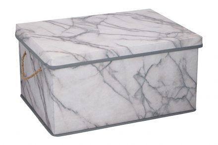 Υφασμάτινο Κουτί Αποθήκευσης 40.5x30x21.5cm για διάφορα αξεσουάρ και αντικείμενα με απεικόνιση Λευκού μαρμάρου - Cb