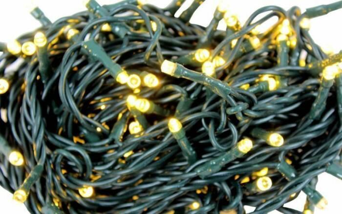 Grundig 160 LED Χριστουγεννιάτικα λαμπάκια 230V Χρώματος λευκού και καλώδιο μήκους 5 μέτρα