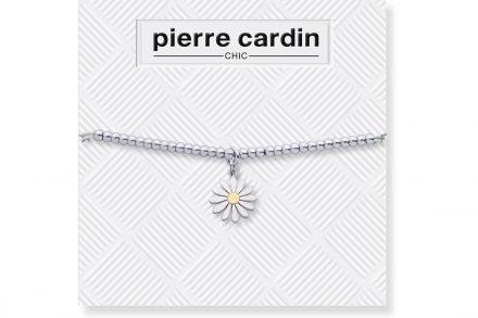 Pierre Cardin PCC7740 Βραχιόλι από Κράμα Ασημιού Σχέδιο Μαργαρίτα διακοσμημένη με Κρύσταλλο