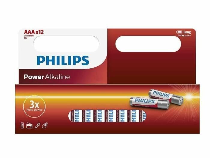 Philips Αλκαλικές Μπαταρίες 12τεμ. ΑΑA