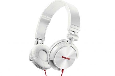 Philips Αναδιπλούμενα Στερεοφωνικά Ακουστικά 106dB σε Λευκό χρώμα