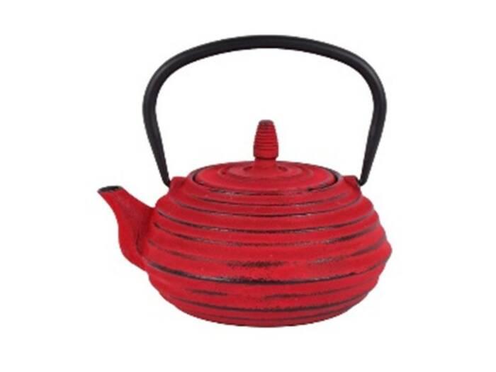 Εμαγιέ Τσαγιέρα από Μαντέμι 700ml με Φίλτρο Σε Κόκκινο Χρώμα - Cb
