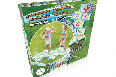 Παιδικό παιχνίδι εξωτερικού χώρου φουσκωτό κουτσό με νερό