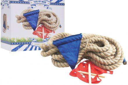 Εκπαιδευτικό Ξύλινο Παιχνίδι Εξωτερικού και Εσωτερικού Χώρου με Σχοινί και Σημαιάκια