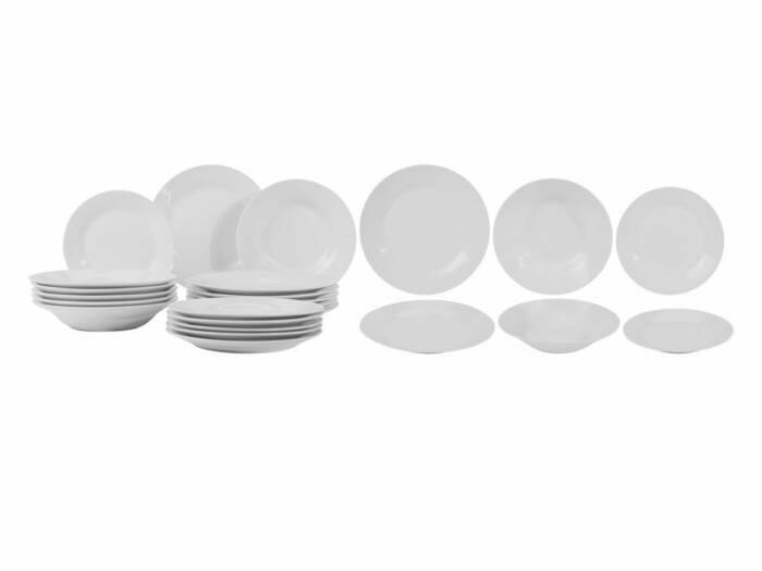 Σετ Σερβίτσιο πιάτων 18 τεμαχίων από πορσελάνη σε λευκό χρώμα - Cb