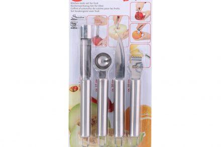 Εργαλεία Κουζίνας για Φρούτα Σετ 4 τεμαχίων από Ανοξείδωτο ατσάλι