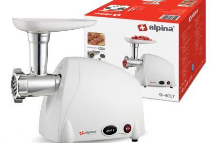 Alpina Switzerland Κουζινομηχανή Κρεατομηχανή Μηχανή κοπής κιμά 300 Watt με 3 Δίσκους κοπής από Ανοξείδωτο Ατσάλι