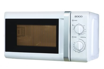 Sogo Φουρνάκι Μικροκυμάτων 700W με Λειτουργία Γκριλ Grill 1000W χωρητικότητας 20L με 5 επίπεδα θέρμανσης