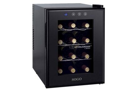 Sogo Ψυγείο Συντηρητής Κρασιών 33L 12 φιαλών με LED οθόνη θερμοκρασίας και εσωτερικό φωτισμό Wine Guardian