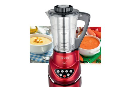 Sogo Επαγγελματικό Μπλέντερ Πολυμηχάνημα Κουζίνας (Blender) και παρασκευαστής σούπας 900W με δοχείο 1.7L