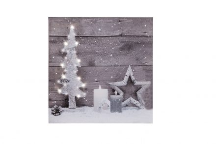 Πίνακας LED Χριστουγεννιάτικος Καμβάς 30x30cm
